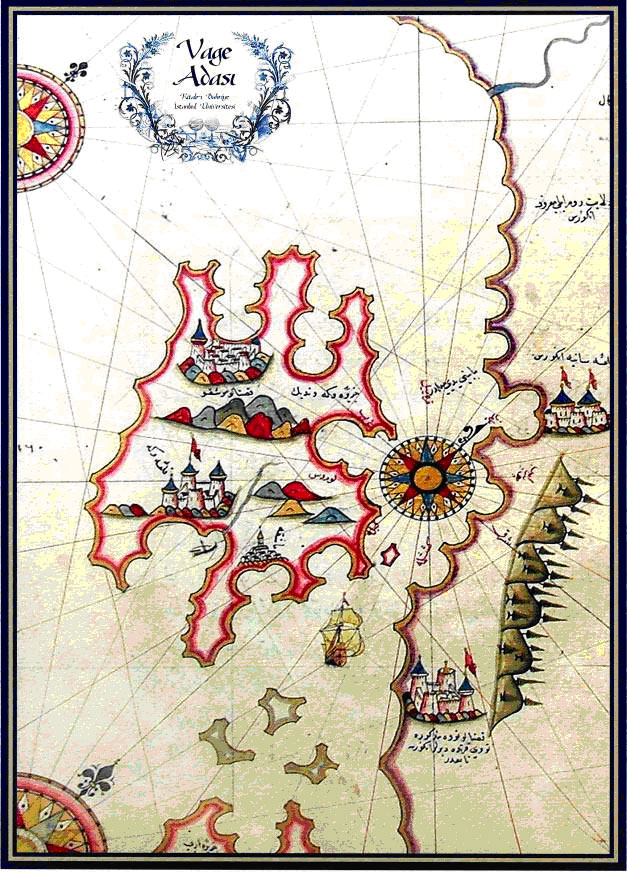 Piri Reis, Vage Adasi, Kitab-i Bahriye (Otok Krk, Knjiga plovidbe)