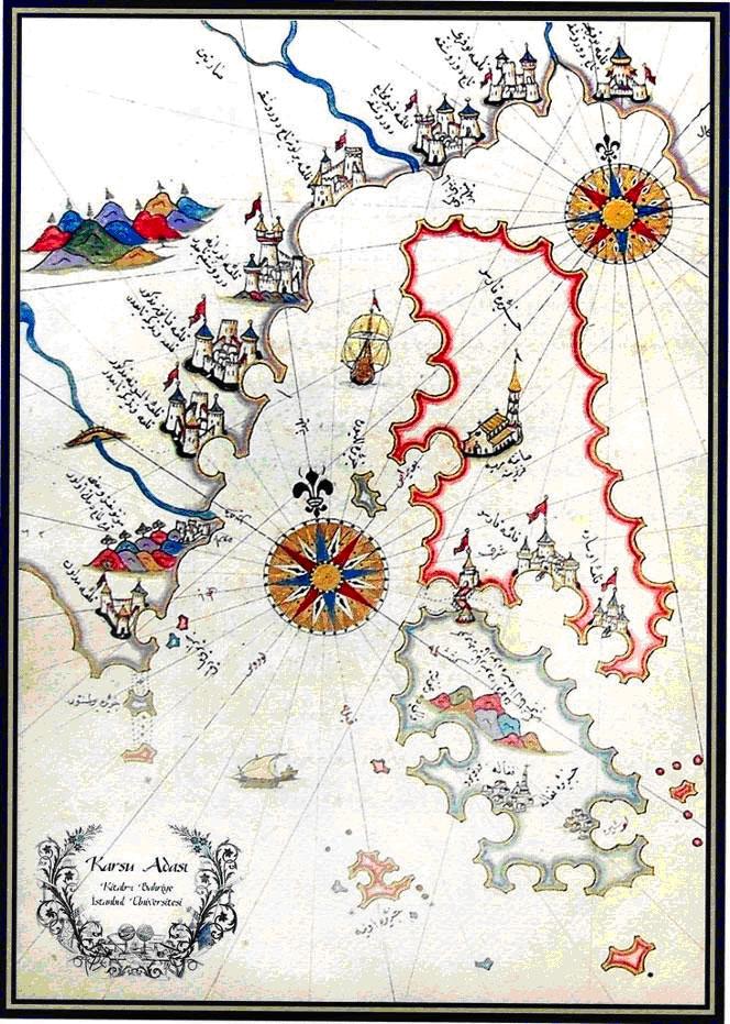 Piri Reis, Karsu Adasi, Kitab-i Bahriye (Otok Cres, Knjiga plovidbe)